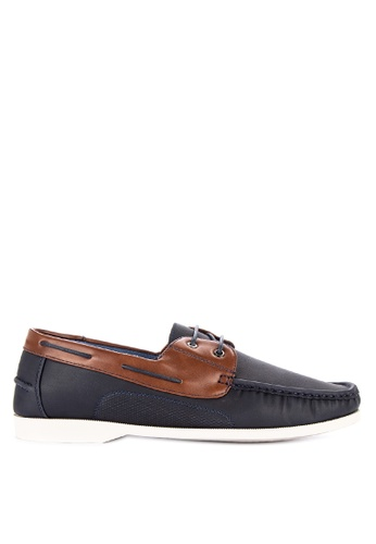 H2Ocean multi and navy Tarpant Boat Shoes Lace up 3EA81SH69D36B9GS_1