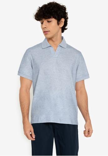 ZALORA BASICS grey Henley Polo Shirt 1CF6CAAB70F560GS_1