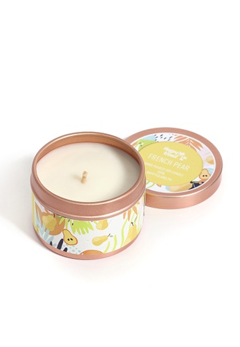 Happy Island yellow French Pear Soy Candle 2oz 2C8B0HL762D3AEGS_1