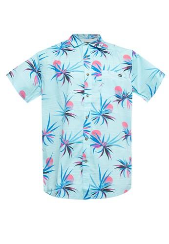 Billabong blue Sundays Floral Short Sleeve Shirt 4BE39AA7203D23GS_1