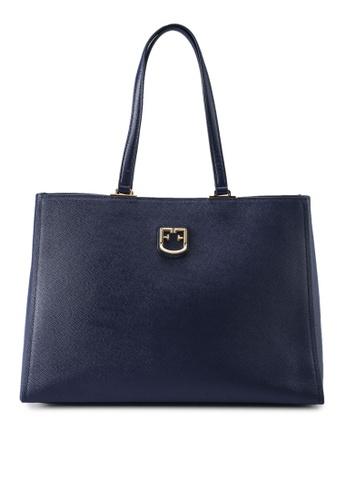 Furla blue Belvedere Tote Bag A7F30AC714C7C1GS_1