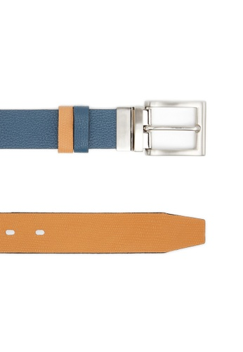 Life8 brown and blue Formal & Casual Double-Sided Leather Belt-05266-Blue and Brown LI283AC0FTWBSG_1