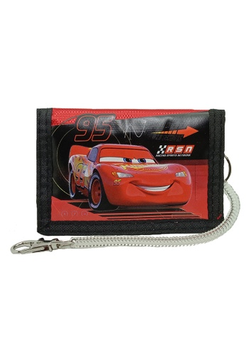 Disney Cars black and red Disney Cars Tri Fold Wallet 157A8KCB6F399CGS_1