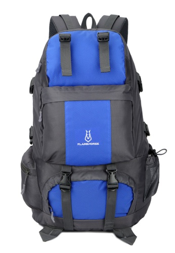 Jackbox blue FlameHorse Water Resistant Camping Travelling Hiking Backpack 50L 152 7133CACFA94A5AGS_1