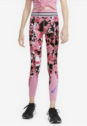 Nike pink Girls' Nike One Training Tights GG 9401BKA259FEC6GS_1