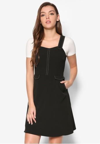 吊帶縫線esprit hong kong 分店連身裙, 服飾, 洋裝