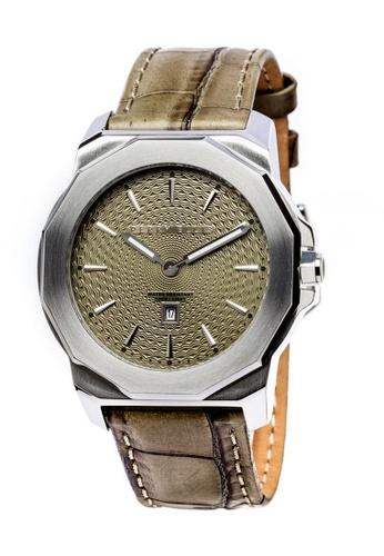 PERRY ELLIS brown Perry Ellis Decagon Unisex 42mm Quartz Watch 08004-01 BF7BDAC3352EA1GS_1