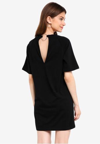 Something Borrowed black Back Detail Raglan Tee Dress 4A4BBAA858B7D4GS_1