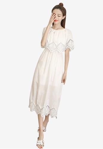 Lara white New Arrival Fashion Trend Stylish One piece Dress 26BD4AA92650E7GS_1