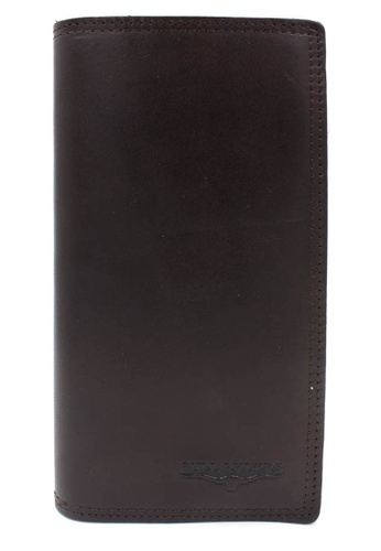 midzone brown BULL RYDERS Premium Genuine Leather Long Wallet 3E203ACD1AF797GS_1