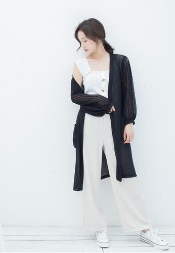 hk-ehunter black Women Stitch Lace Knitwear 305E3AA58B9FCCGS_1