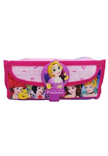 DISNEY Princess purple Disney Princess Dream Square Pencil Bag With Pocket 3E1BCKC8FB27A7GS_1