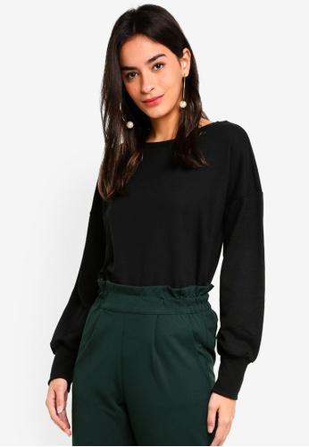 JACQUELINE DE YONG black Unicorn Long Sleeve Sweatshirt 4E697AA32E6380GS_1