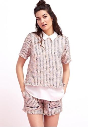 經典粗線混色兩件式上衣, 服飾esprit台灣outlet, 上衣