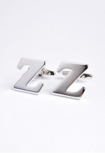 Splice Cufflinks silver Monogram Alphabet Rhodium Plated Cufflinks - Z SP744AC06PRTSG_1