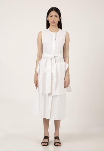 et cetera white Flare Patch Pocket Dress AE1D1AA5773444GS_1