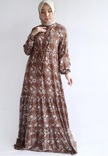 Covering Story brown Rafatar Dress A 4245DAA6B78E99GS_1