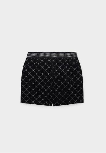 Pomelo black Milin x Pomelo Diamante Embellished Shorts - Black CA3D2AA50DFA79GS_1