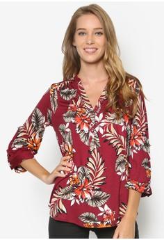 Palm Print Button Shirt
