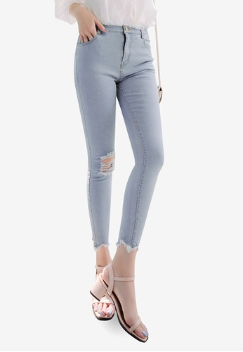 Eyescream blue Distressed Skinny Jeans 4B4FBAA011D2D2GS_1
