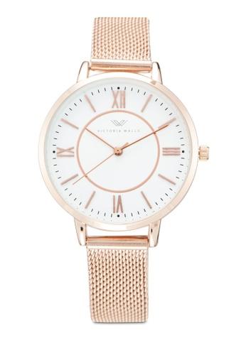 Victoria Walls Watches gold Designer Watch-Elegant Milanese Mesh Strap 02315ACC007B5EGS_1