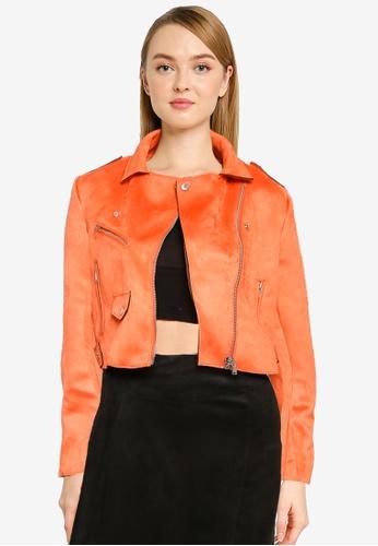 ONLY 橘色 Sherry 短版Bonded 夾克 CFA01AA2672B40GS_1