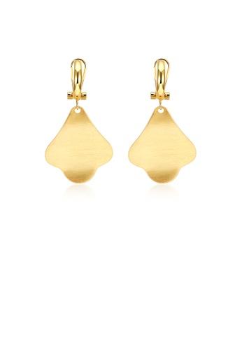 Glamorousky silver Fashion Golden Tree Earrings FB326ACAEE100EGS_1