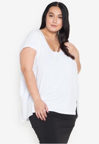 Amelia white Plus Size Tamila Top 7FB8CAAD27288EGS_1