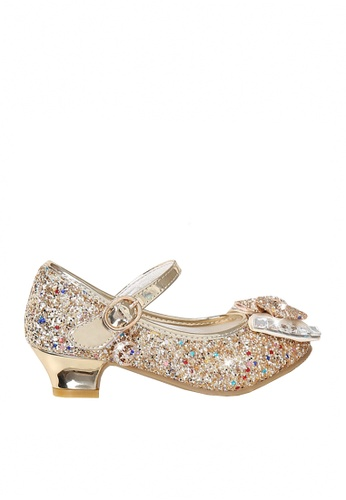Twenty Eight Shoes 金色 VANSA  亮片水鑽矮跟鞋  VSK-F1168 8CF75KS4A75485GS_1