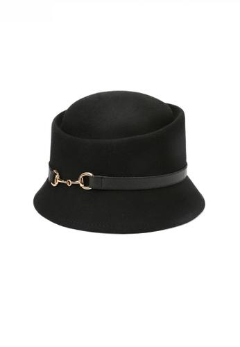 Twenty Eight Shoes black Noble Chic Metal Buckle Wool Hat JW LL-FW396002 3A075ACB1535EAGS_1