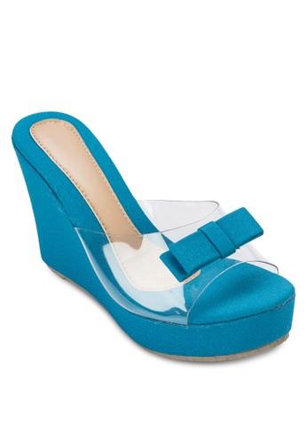 透明帶楔型涼鞋, 女鞋, 楔esprit outlet 桃園形涼鞋