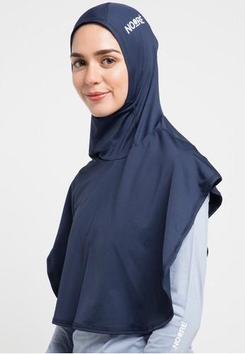 NOORE navy Sarai Sport Hijab FEB02AABBDBD92GS_1
