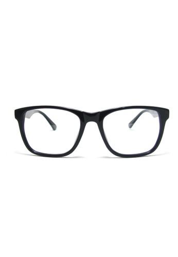 大框型光學眼鏡│黑色手工板材鏡框│esprit 鞋1960-C1, 飾品配件, 眼鏡