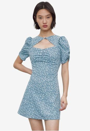 URBAN REVIVO blue Casual Dress 9DCDBAAC22AC26GS_1