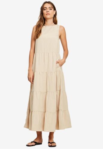 St MRLO beige Byron Dress 0C969AA573B7B2GS_1
