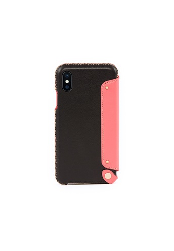 OBX black Pink Roses iPhone X/Xs Leather Folio Case 9D6D4AC1465D64GS_1