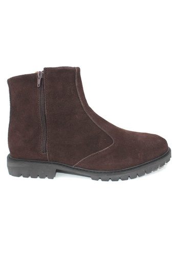 midzone brown Suede Leather High Cut MI949SH0RPMUMY_1