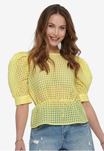 ONLY yellow Ashlee Blouse 5EF88AA06FF37EGS_1