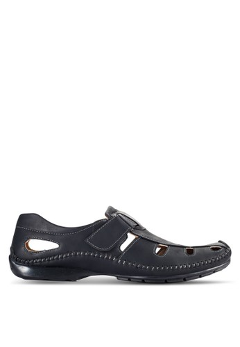 Louis Cuppers black Casual Slip On Shoes LO977SH99VOUMY_1