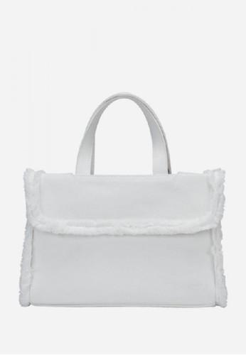 KWANI white Frayed Denim Micro White CC9DAAC76C9E78GS_1