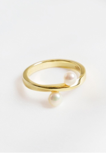 Paradeisos Jewellery gold The Shadow 925 Silver Golden Ring 41354ACA81A2F5GS_1