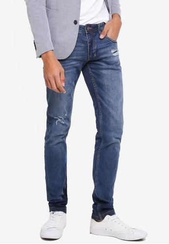 OVS 藍色 刷破丹寧牛仔褲 F4923AAAABB190GS_1