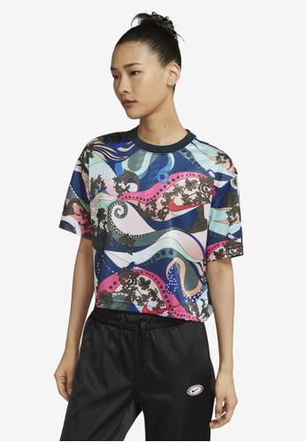 Nike green Sportswear Short-Sleeve Top 2210BAAD4D08C8GS_1