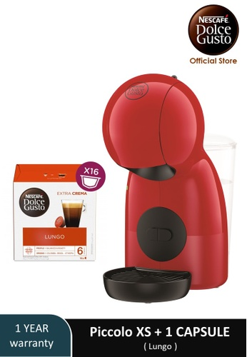 NESCAFE Dolce Gusto red PICCOLO XS Coffee Machine with 1 box of NESCAFE Dolce Gusto Lungo capsules F54F4ES483611AGS_1