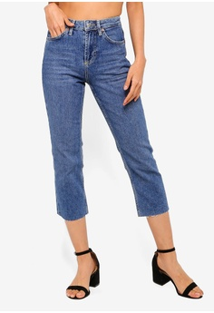 TOPSHOP blue Petite Mid Stone Straight Jeans 0B984AA08F0A43GS 1 520576886c8