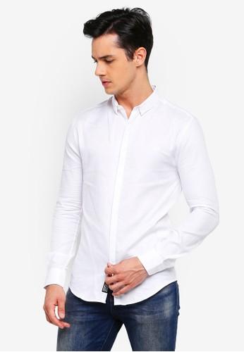 Superdry white Premium Slim Fit Shirt E345FAADDA2AF7GS_1
