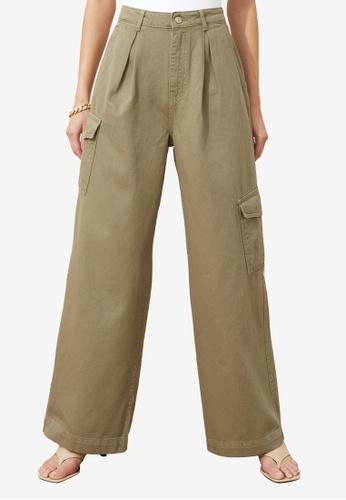 Trendyol green Wide Leg Cargo Pants 22A0CAADF6DF6FGS_1