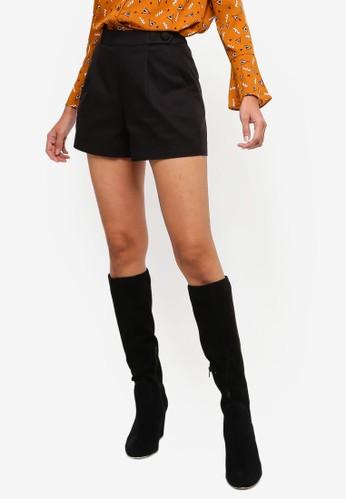 Hopeshow black Casual High Waist Shorts DF299AA3D2B1D6GS_1