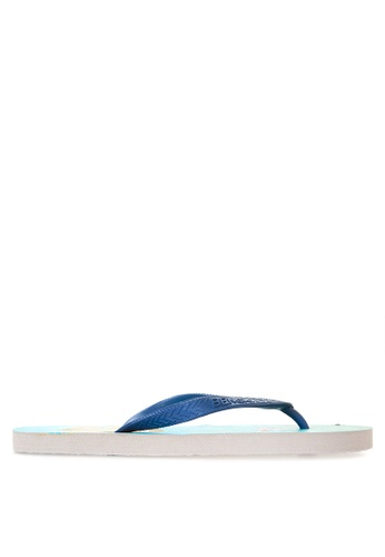 BENCH blue Printed Rubber Slippers BE550SH20MATPH_1