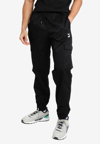 Puma black Classics Cotton Twill Men's Sweatpants 7B679AA264DAB8GS_1